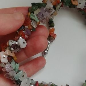 4/$15 - Stone chip necklace with matching bracelet